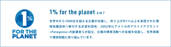 1% for the planet とは?