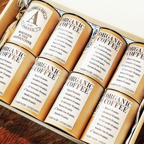 MA店限定 GIFT BOX A オーガニックコーヒー詰め合わせ 100g×8種