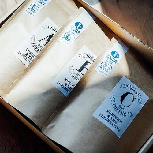 MA店限定 GIFT BOX C オーガニックコーヒー詰め合わせ 200g×3種
